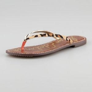 "Sam Edelman ""Gracie"" Animal Calf Hair Thong Sandal"